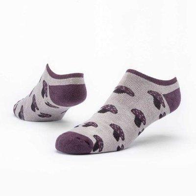 Maggie's Organics Greige Mushroom Footie Socks
