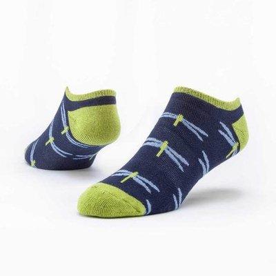 Maggie's Organics Navy Dragonfly Footie Socks