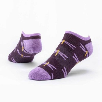 Maggie's Organics Purple Dragonfly Footie Socks