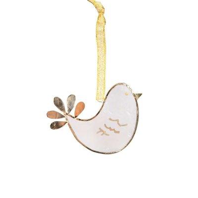 Ten Thousand Villages Share Peace Capiz Dove Ornament