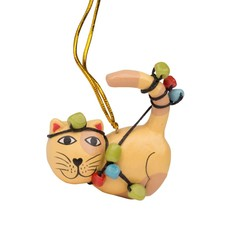 Ten Thousand Villages Tangled Up Cat Ornament