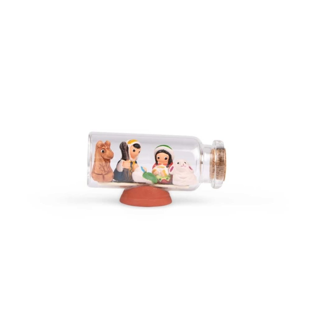 Ten Thousand Villages Tiny Nativity in a Bottle