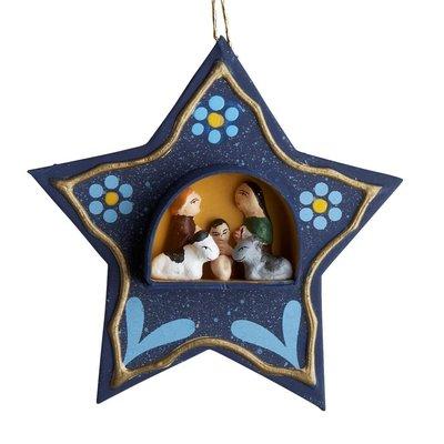 Ten Thousand Villages Tiny Retablo Star Ornament