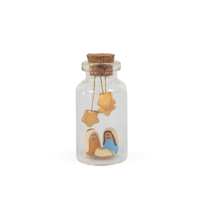Ten Thousand Villages Vertical Nativity in a Bottle