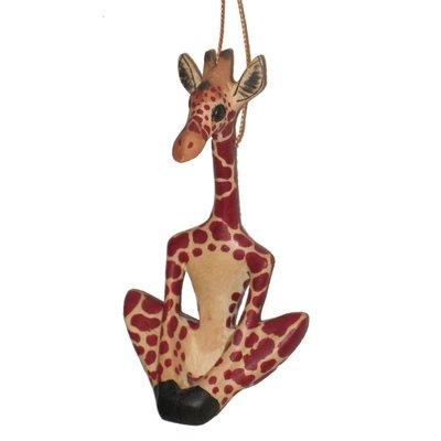 Ten Thousand Villages Yoga Giraffe Ornament