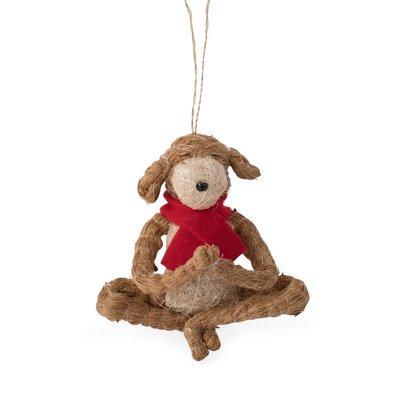 Ten Thousand Villages Yoga Dog Ornament