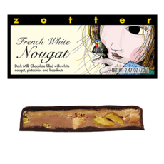 Zotter Chocolate French White Nougat Hand-Scooped Chocolate
