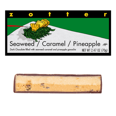 Zotter Chocolate Seaweed Caramel Pineapple Hand-Scooped Chocolate