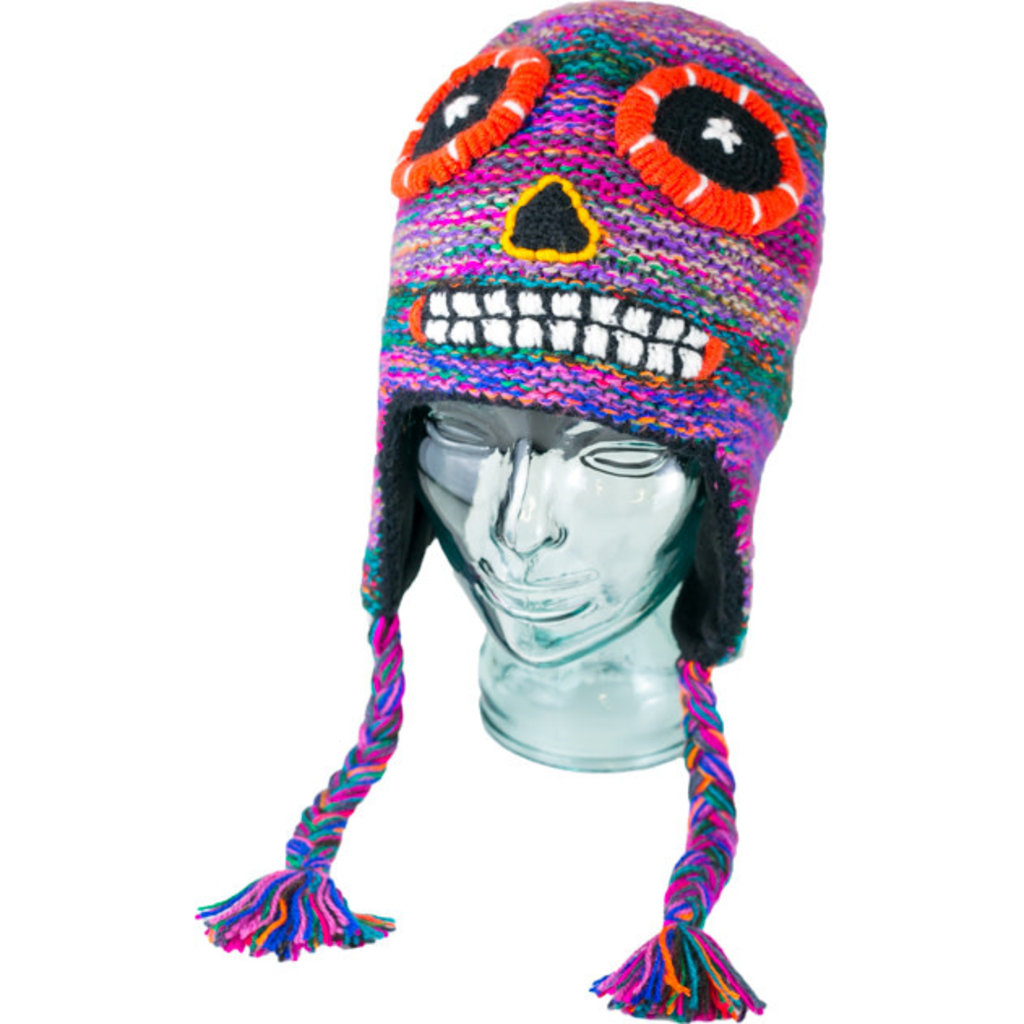 Andes Gifts Adult Adventure Hat: Sugar Skull