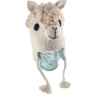 Andes Gifts Adult Animal Hat: Alpaca