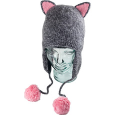 Andes Gifts Adult Animal Hat: Grey Cat