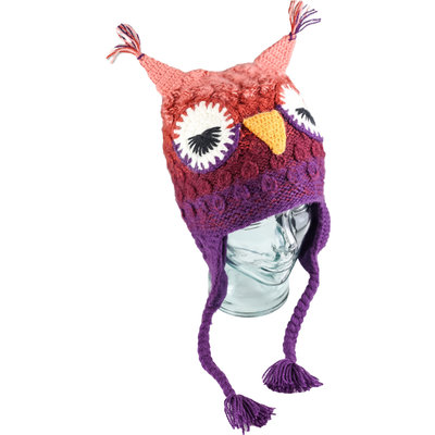 Andes Gifts Adult Animal Hat: Purple Owl