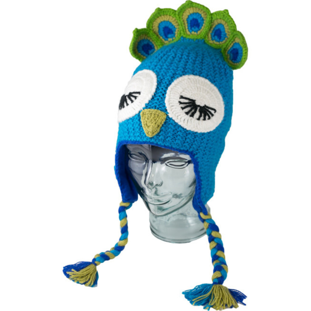 Andes Gifts Adult Animal Hat: Peacock