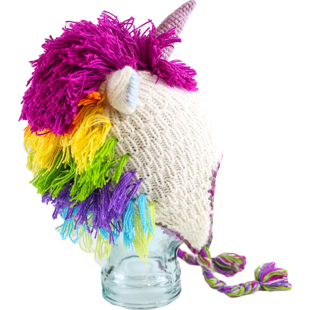 Andes Gifts Adult Animal Hat: Unicorn