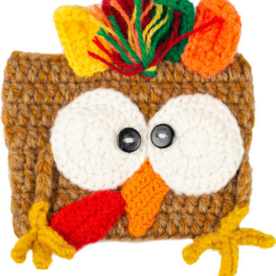 Andes Gifts Animal Cup Cozies: Turkey