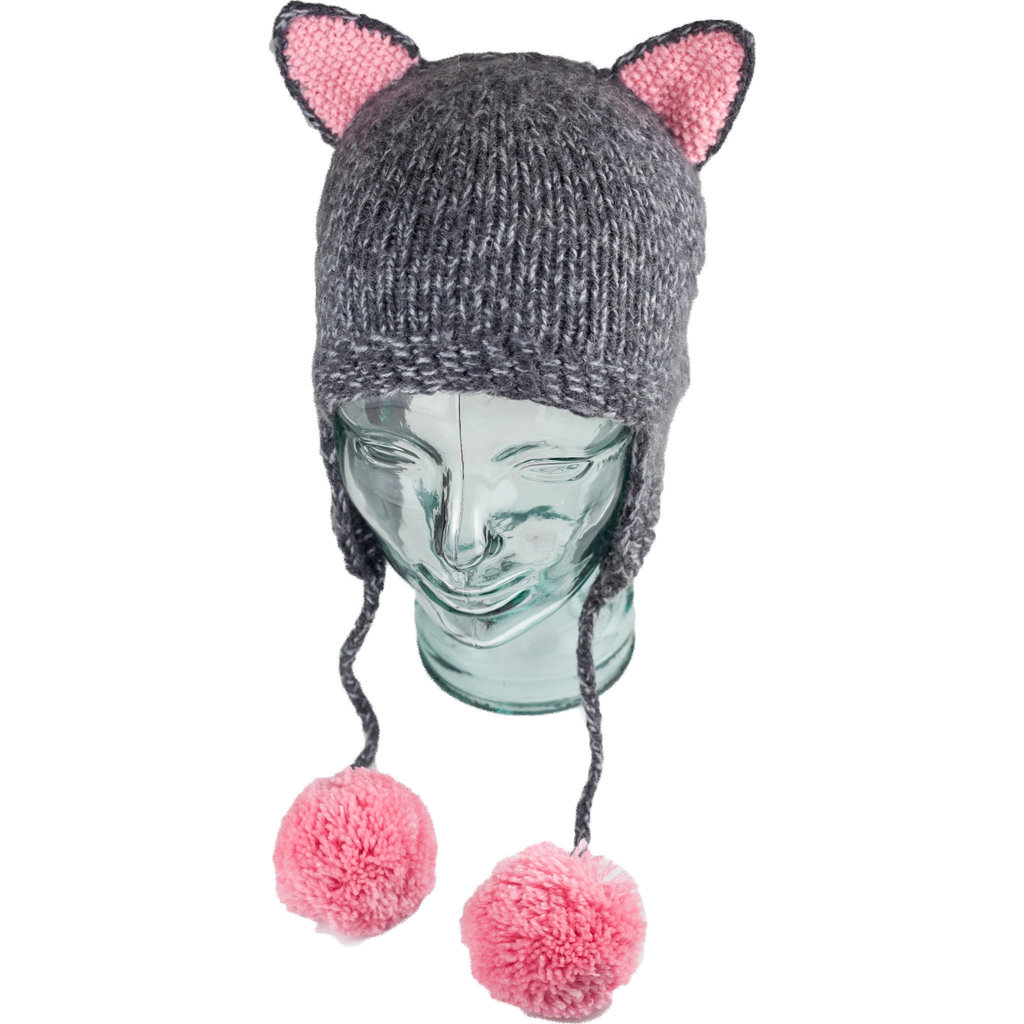 Andes Gifts Kids Animal Hat: Grey Cat