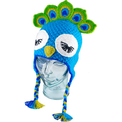 Andes Gifts Kids Animal Hat: Peacock