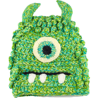 Andes Gifts Kids Monster Hat: Bally Green