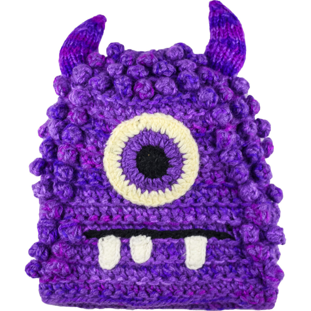 Andes Gifts Kids Monster Hat: Bally Purple