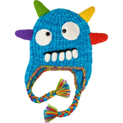 Andes Gifts Kids Monster Hat: Spike Blue