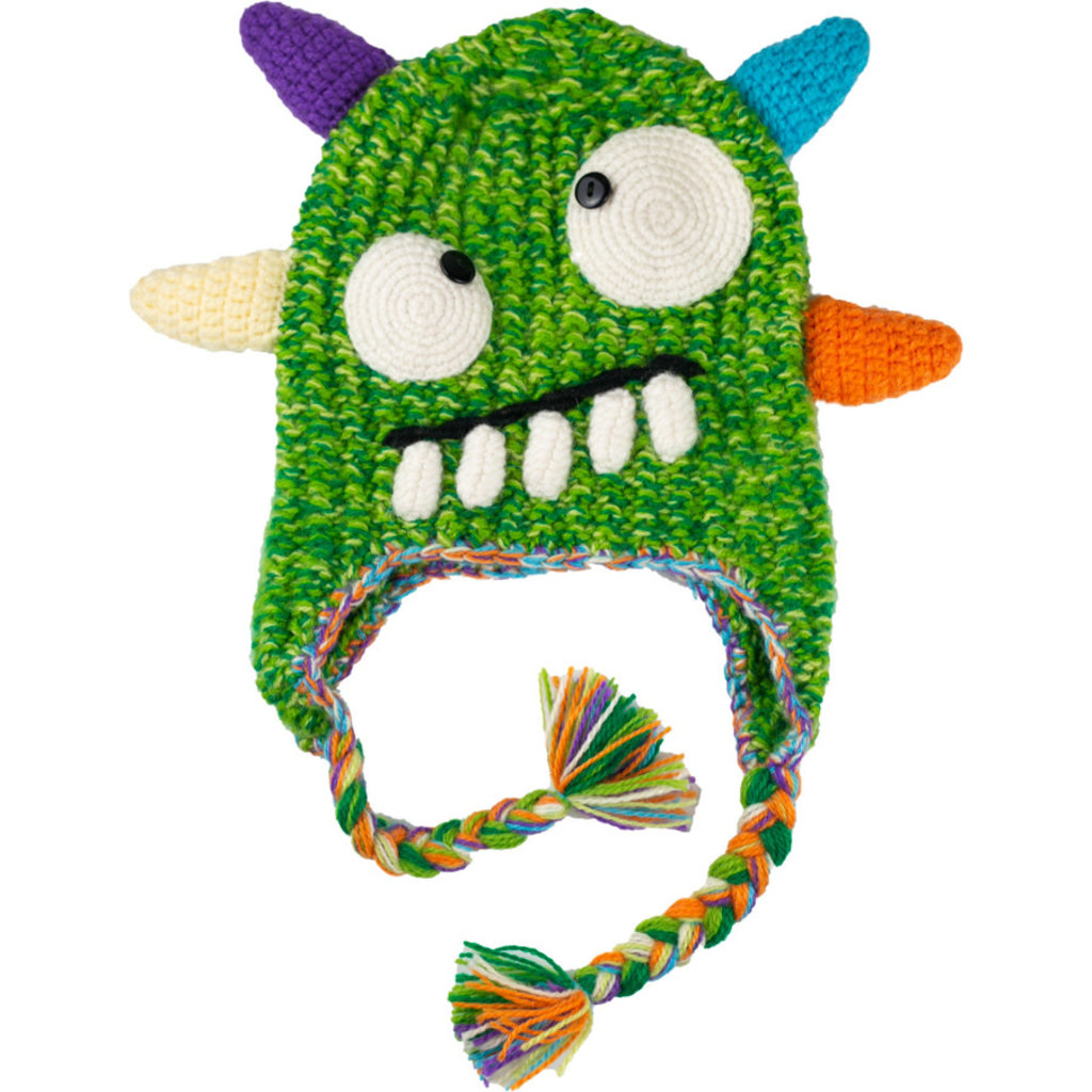 Andes Gifts Kids Monster Hat: Spike Green