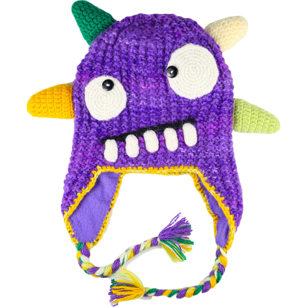 Andes Gifts Kids Monster Hat: Spike Purple