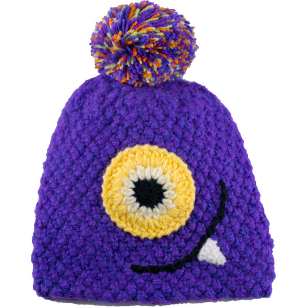Andes Gifts Kids Monster Hat: Monstruito Purple