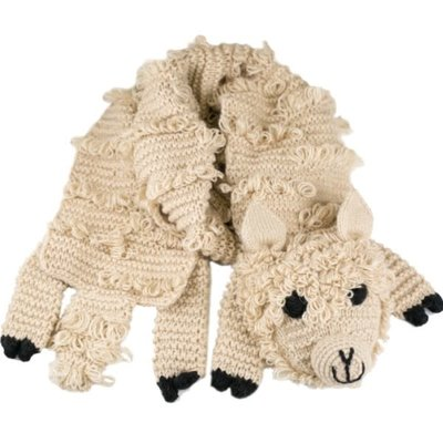 Andes Gifts Animal Winter Scarf: Alpaca