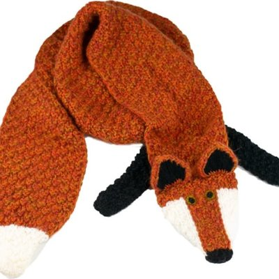 Andes Gifts Animal Winter Scarf: Fox