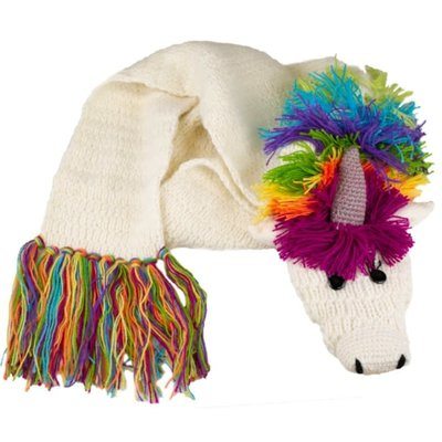Andes Gifts Animal Winter Scarf: Unicorn