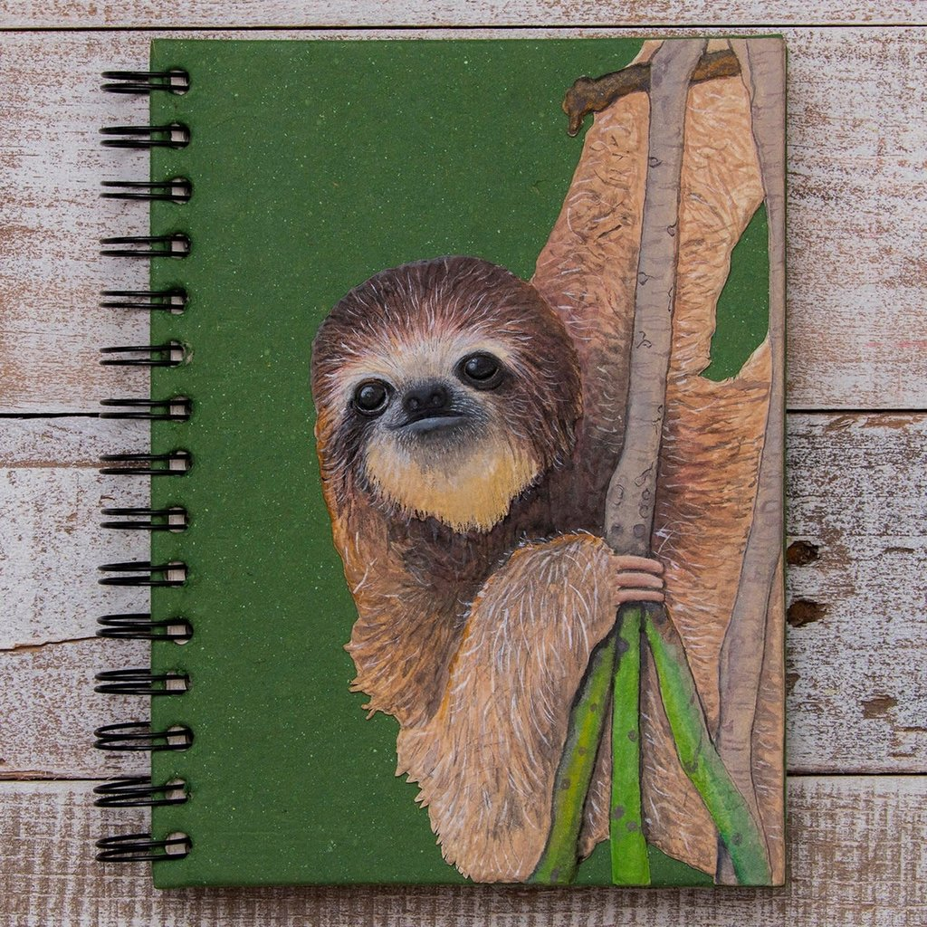Mr Ellie Pooh Large Three-toed Sloth Journal
