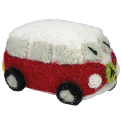 DZI Handmade Red Magic Micro Magic Bus Ornament