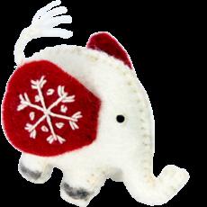 DZI Handmade Snowflake White Jumbo Ornament