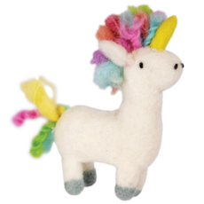 DZI Handmade Rainbow Unicorn Ornament