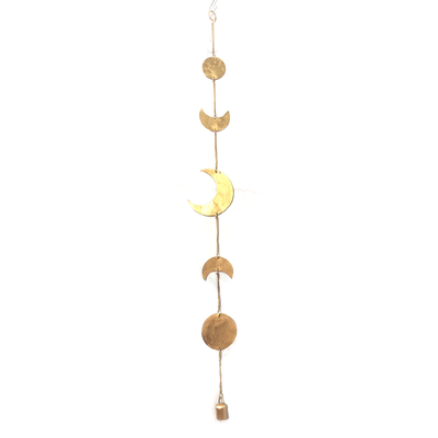 Mira Fair Trade Moon Phase Chime: Gold
