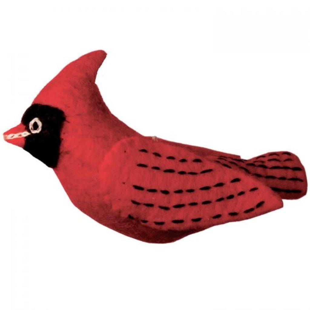 DZI Handmade Wild Woolie Cardinal Ornament