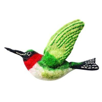 DZI Handmade Wild Woolie Hummingbird Ornament