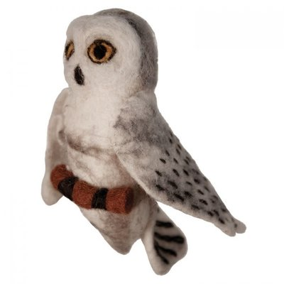 DZI Handmade Wild Woolie Snowy Owl Ornament