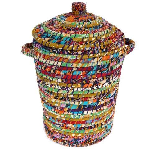 Recycled Sari Hamper