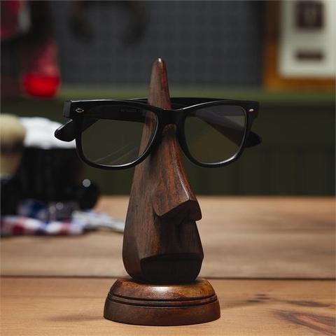 Wooden Nose Eyeglass Holder