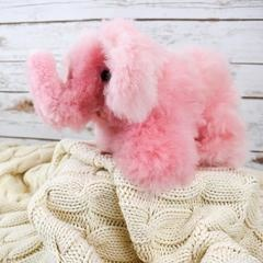alpaca wool elephant toy