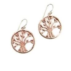 Minga Imports Vida Copper Tree of Life Earrings