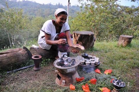 artisan roasting coffee beans