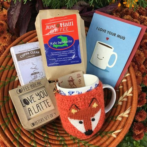 collection of coffee related items