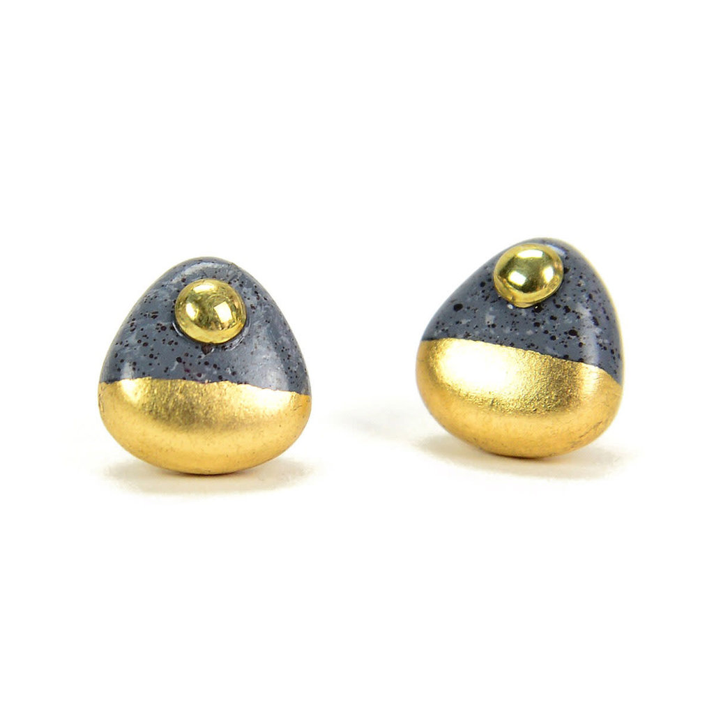 Minga Imports Gilded Stud Earrings