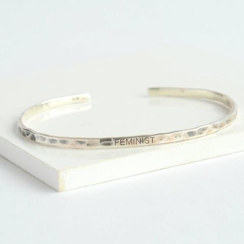 feminist cuff bracelet