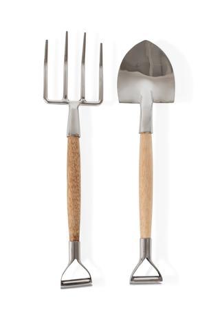 shovel and pitchfork salad servers