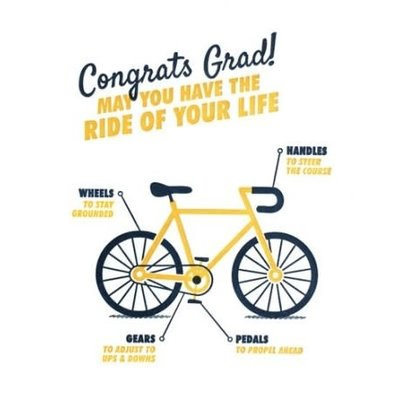 Good Paper Bicycle Graduation Card