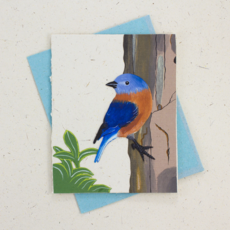 Mr Ellie Pooh Bluebird Greeting Card