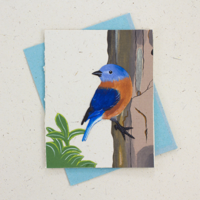Mr Ellie Pooh Bluebird Greeting Card